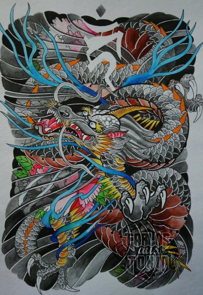 japanese dragon tattoo7