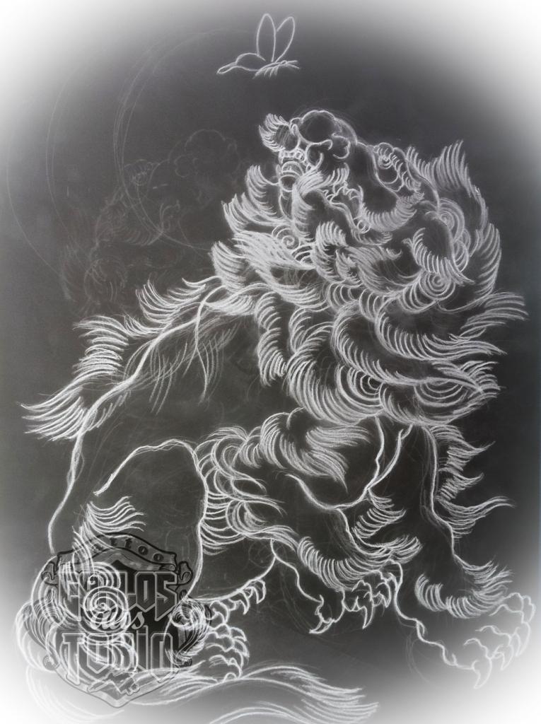 japanese fu dog tattoo