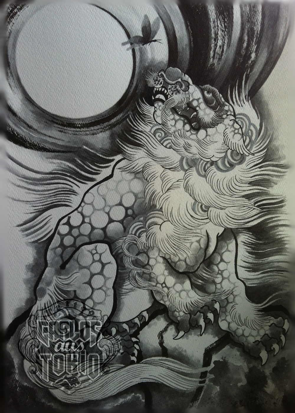 Back gt Gallery For Japanese Foo Dog Sketches