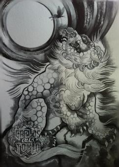 japanese fu dog tattoo4