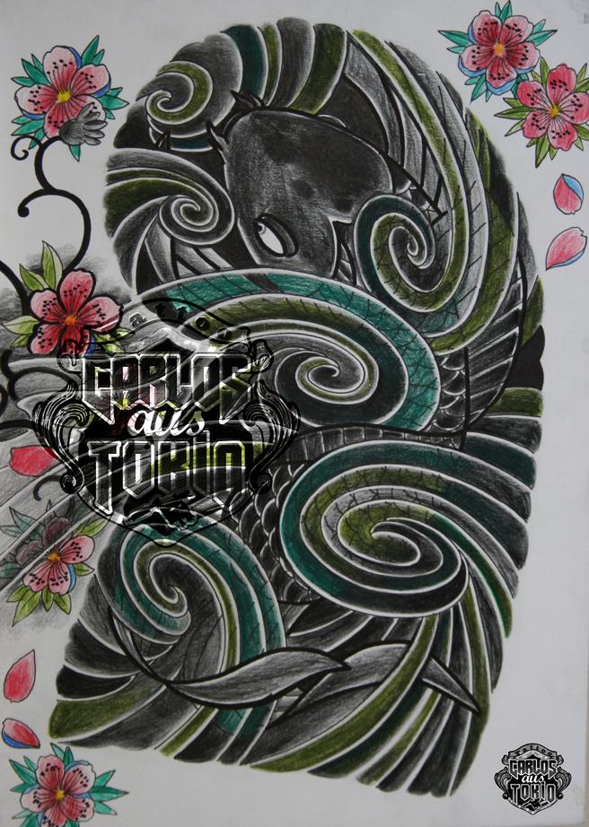 japanische koi tattoo23