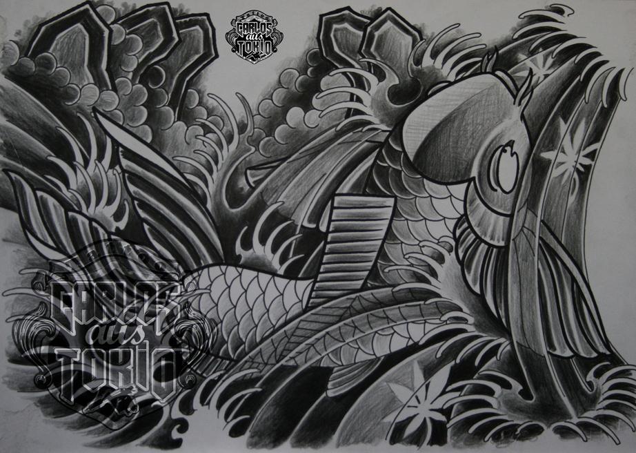 japanische koi tattoo5