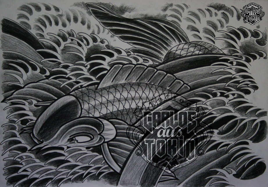 japanische koi tattoo6
