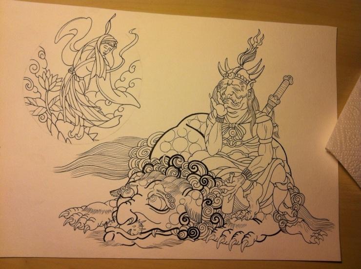 Japanese Oni tattoo1