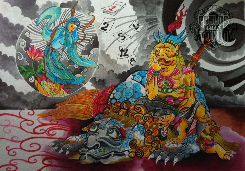 Japanese Oni tattoo