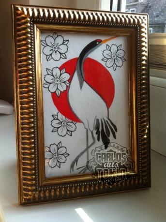 jpanese crane tattoo