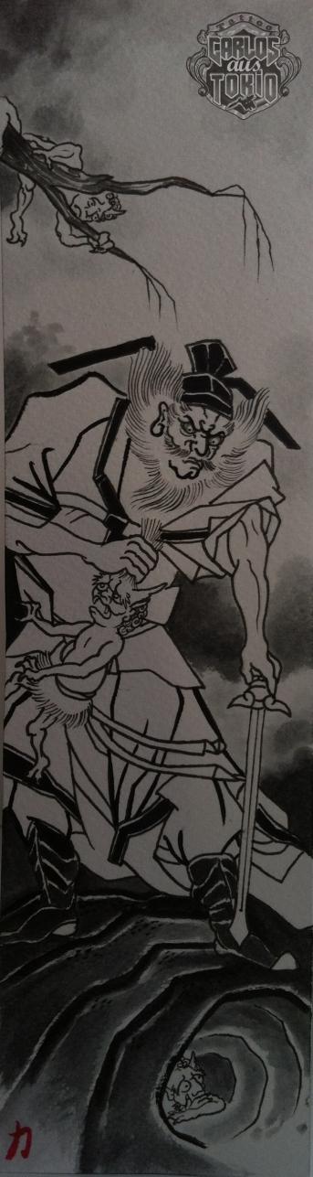 demon queller tattoo carlos aus tokio