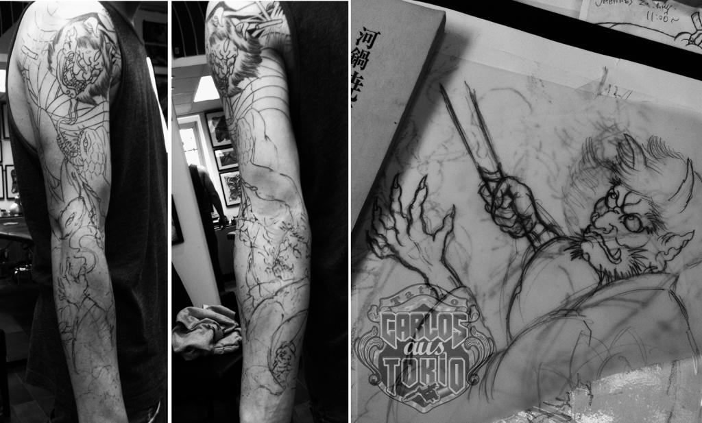 japanese demon tattoo carlos aus tokio