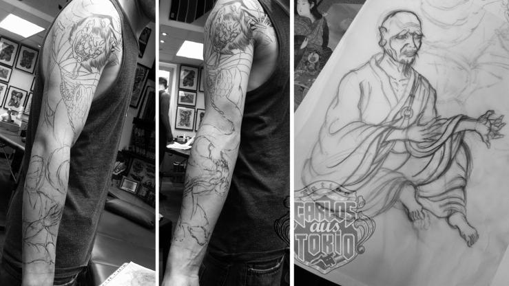 japanese priest tattoo carlos aus tokio