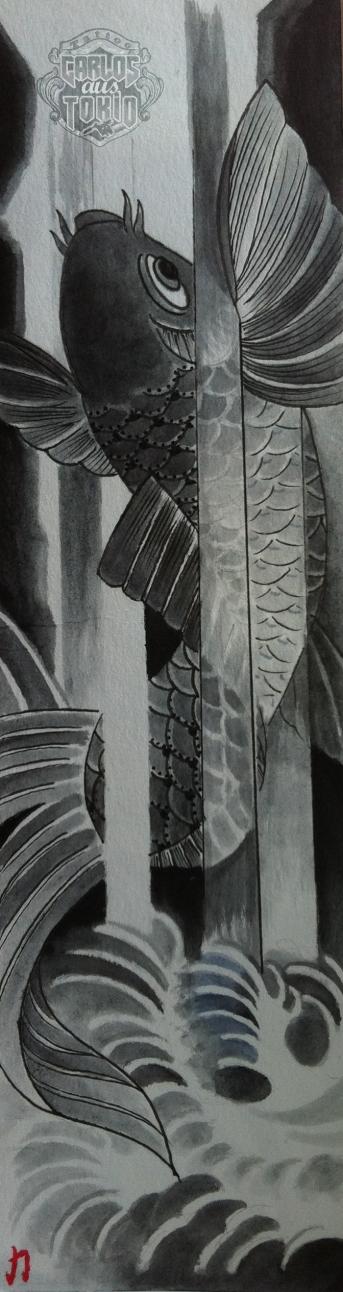 koi tattoo drawing carlos aus tokio1