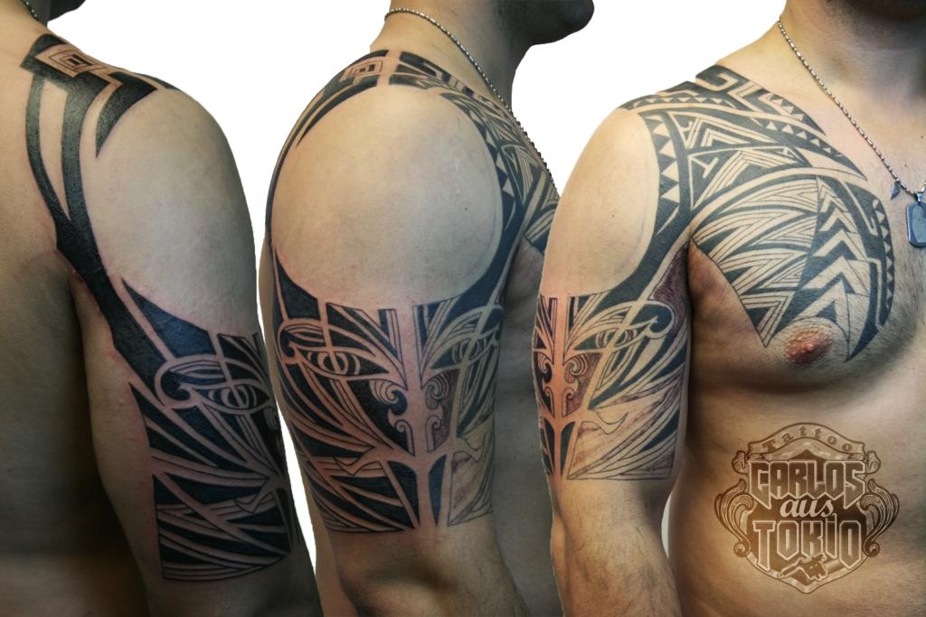 maori mask tattoo carlos aus tokio