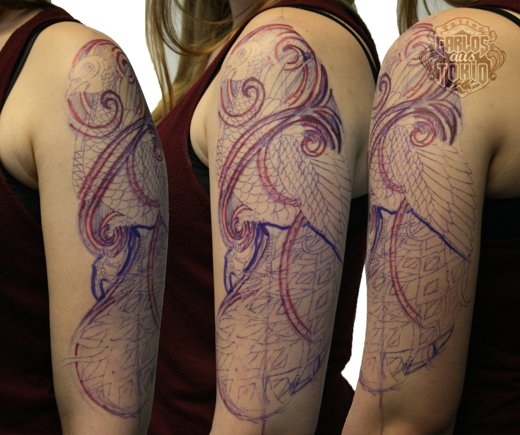 pfau arm tattoo1