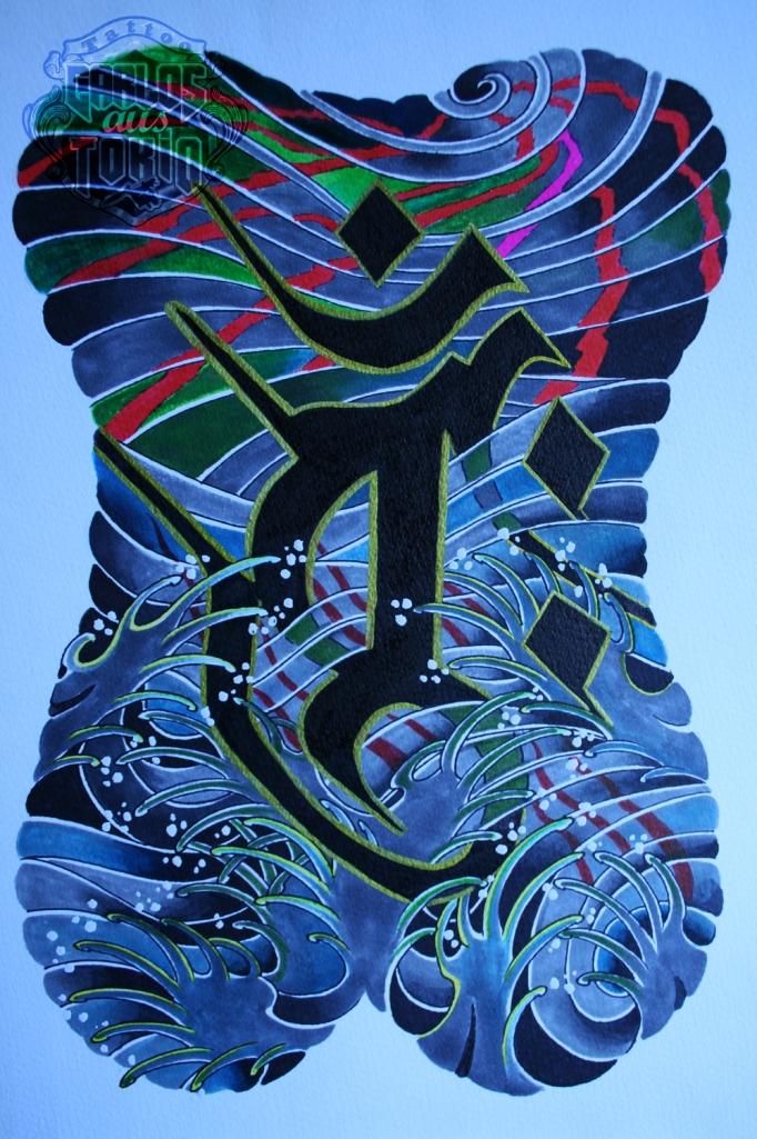 梵字タトゥーBuddhist sanskrit tattoo carlos aus tokio4