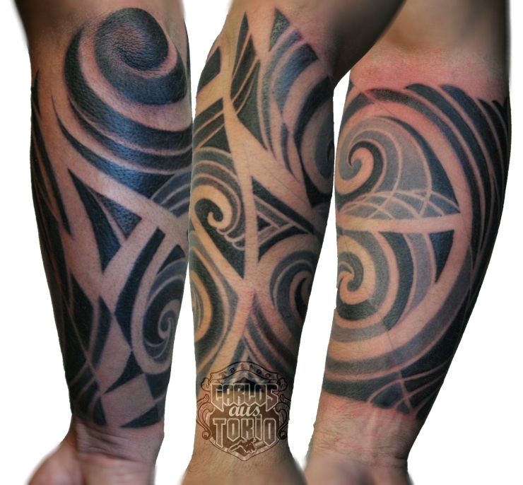hybrid maori tattoo carlos aus tokio