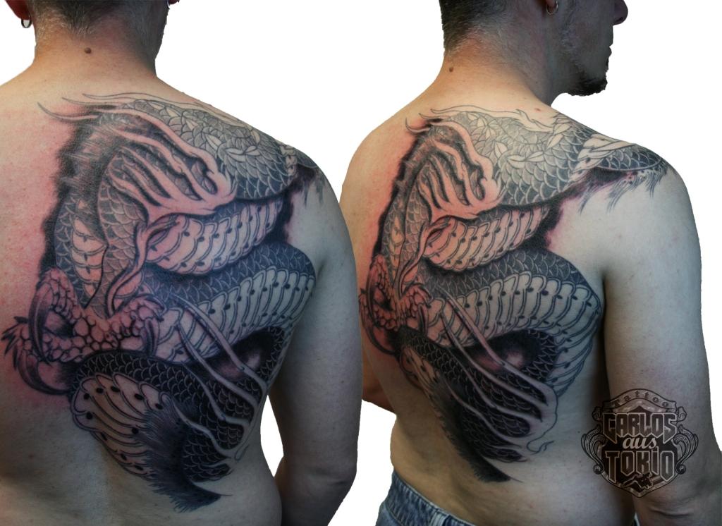 Japanische Drache tattoo carlos aus tokio