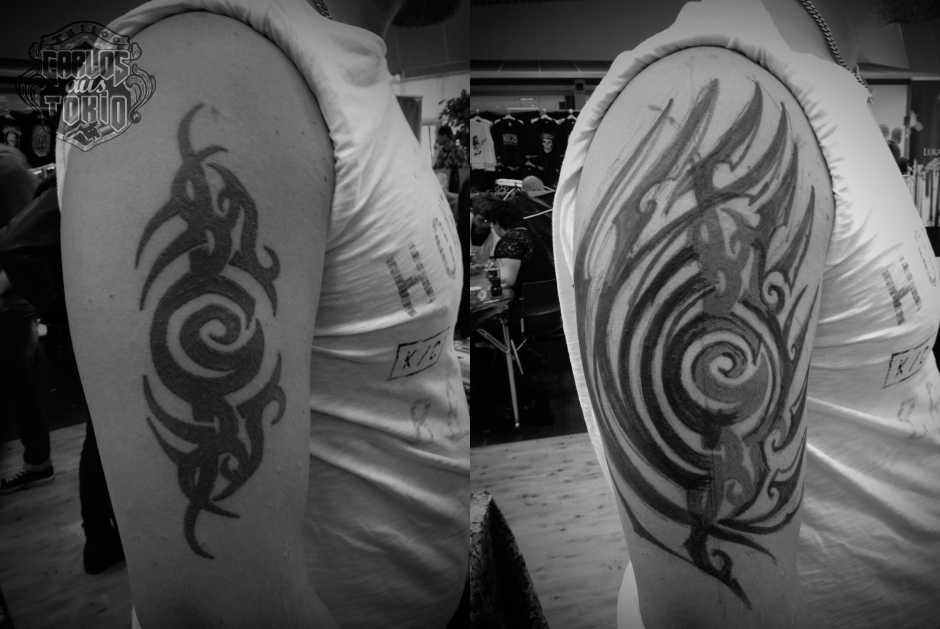 Svenska Tribal tattoo Carlos aus Tokio2