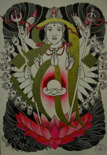 千手観音buddhist tattoo