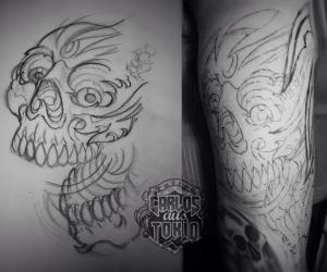 totenkopf skull tattoo carlos aus tokio2