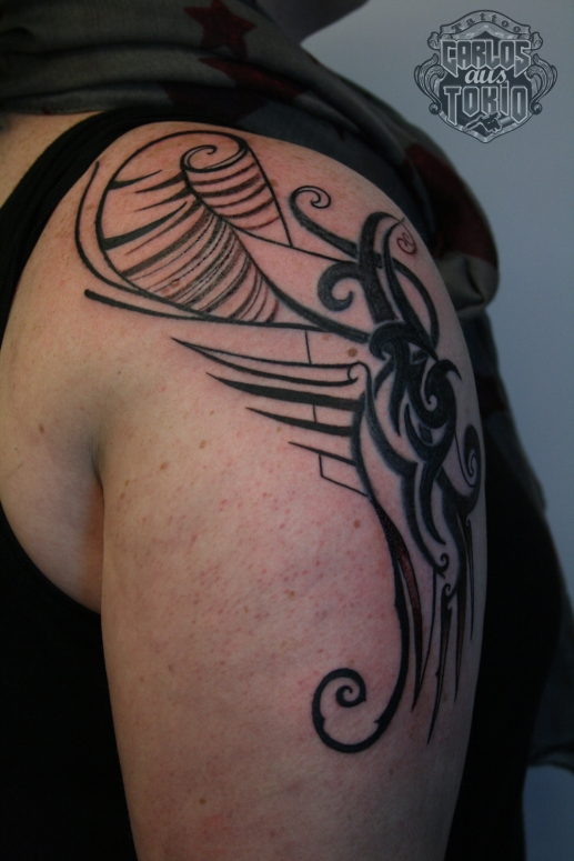 girl tattoo tribal1
