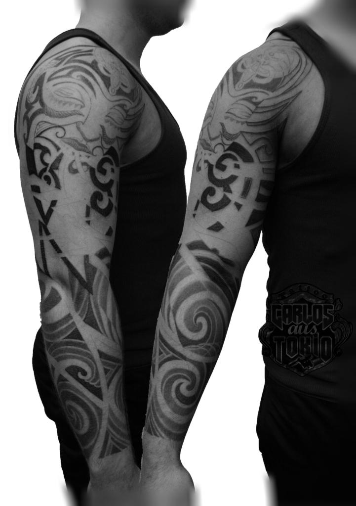 maori mask tattoo carlos aus tokio1