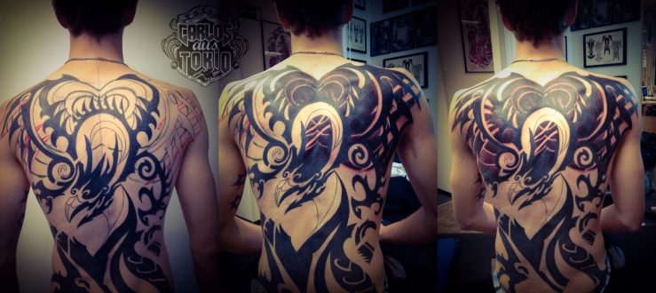 tribal dragon rucken tattoo carlos aus tokio1