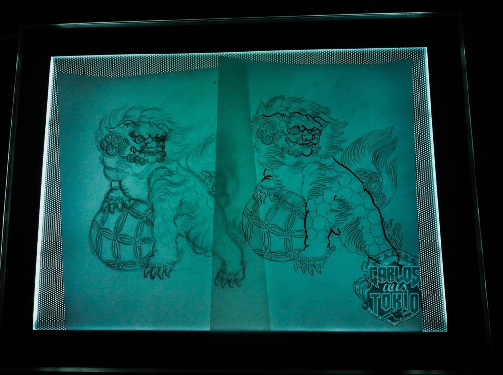 唐獅子Fu dog tattoo1