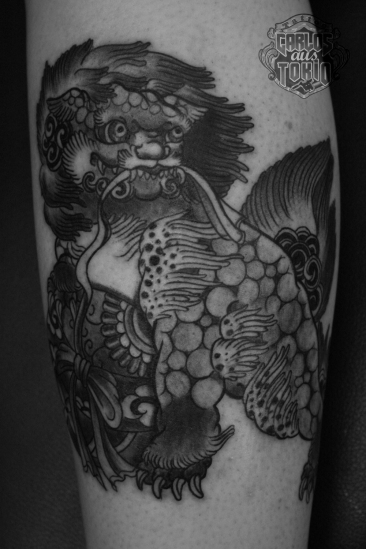 唐獅子Fu dog tattoo2