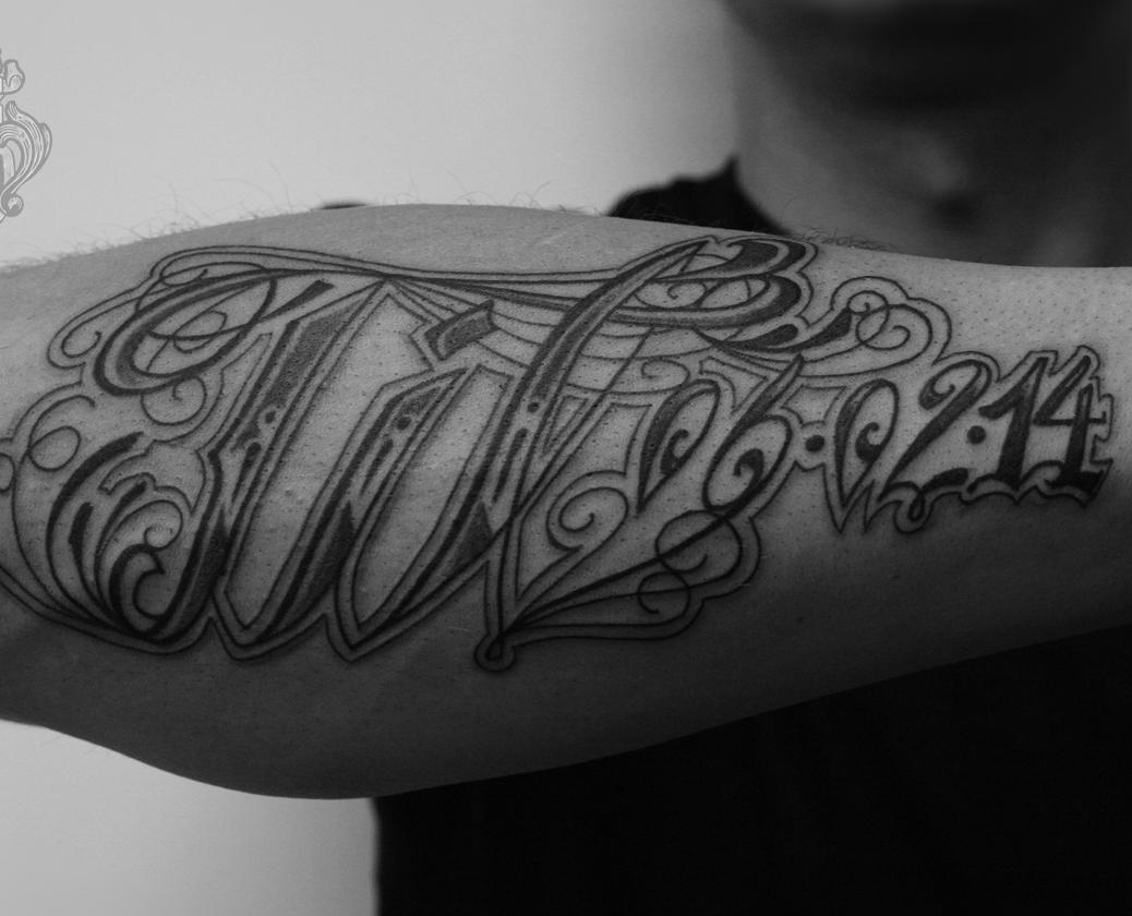 schriftzuge tattoo lettering2