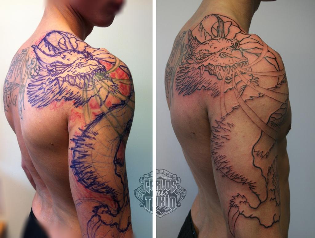 drache arm tattoo1