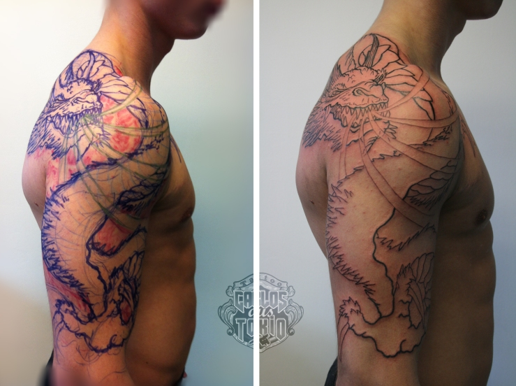 drache arm tattoo2