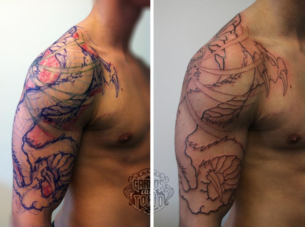 drache arm tattoo3