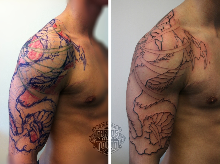 drache arm tattoo3