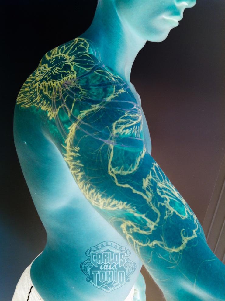 drache tattoo frei hand zeichnung1