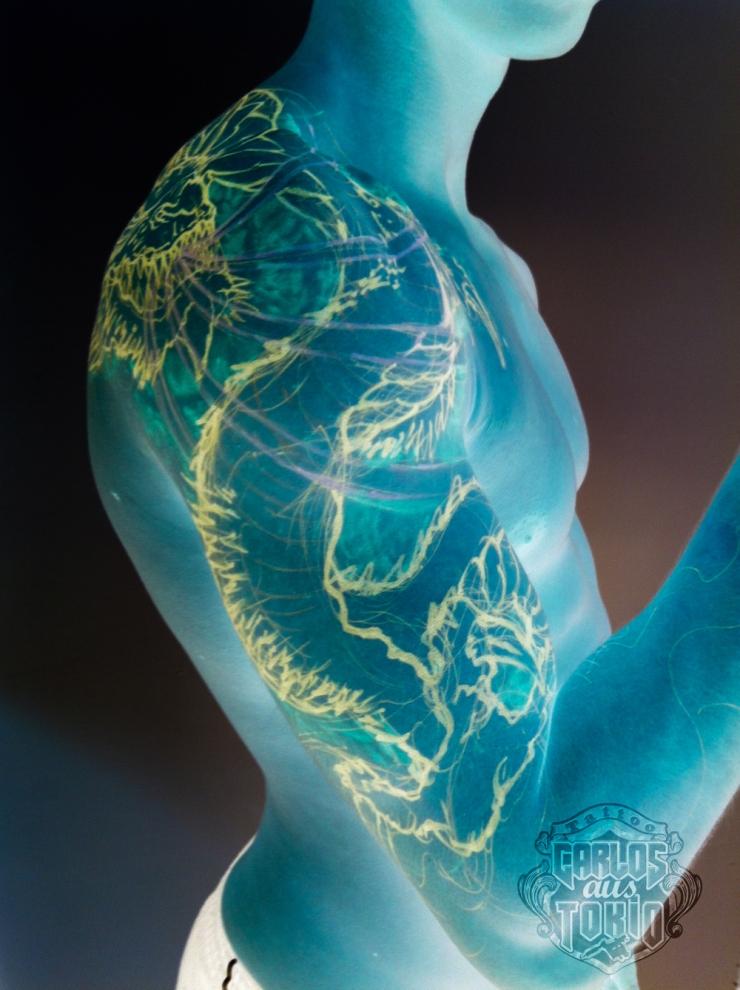 drache tattoo frei hand zeichnung3