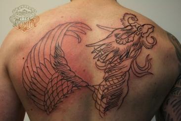 ho-o phoenix tattoo 鳳凰刺青背中6