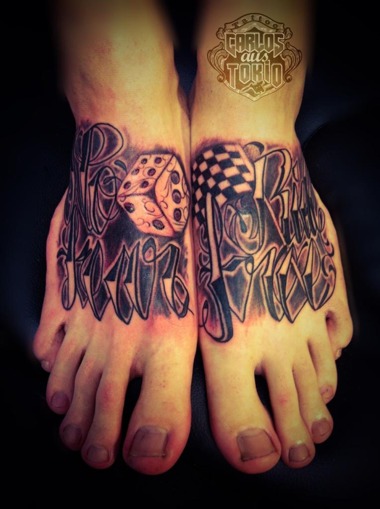 lettering foot tattoo1