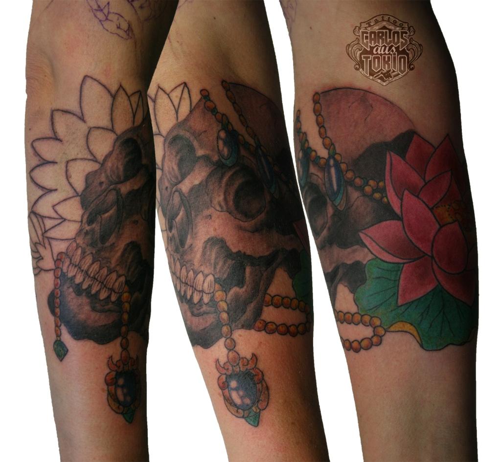 snake and skull tattoo1
