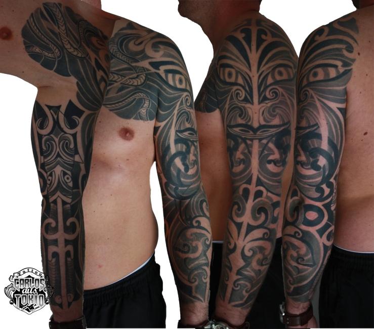 christian maori hybrid tattoo carlos aus tokio