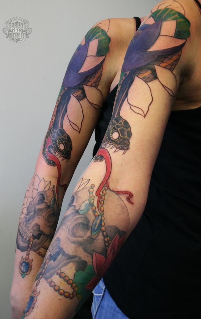 frau schlange tattoo0