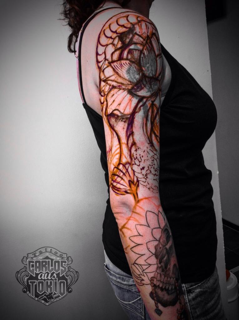 frau schlange tattoo02