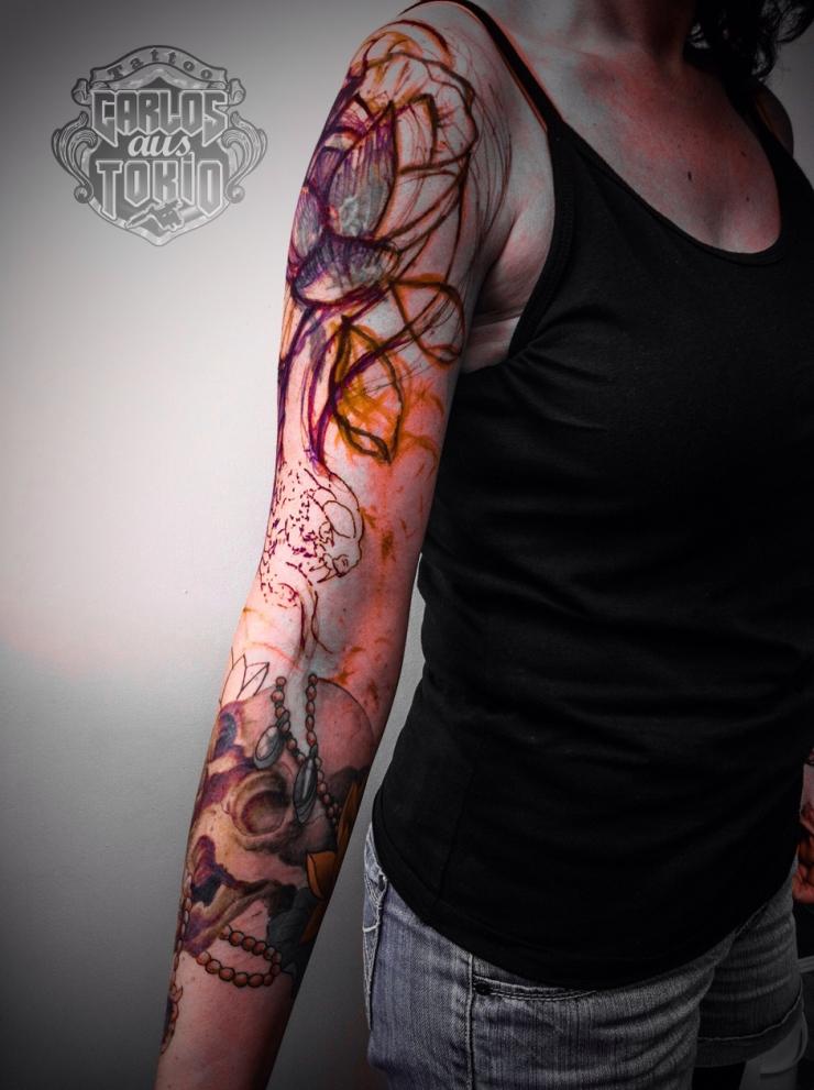 frau schlange tattoo03