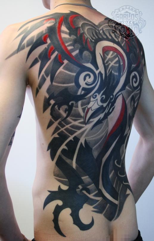 tribal dragon back piece3