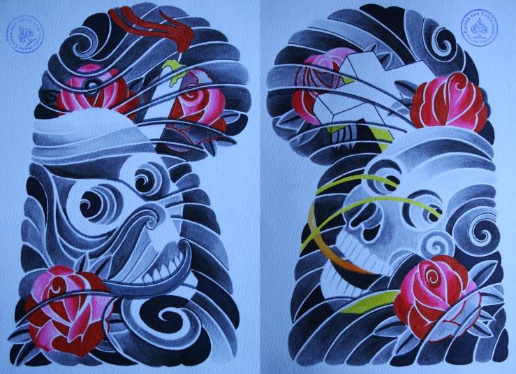 totenkopf tattoo carlos aus tokio3