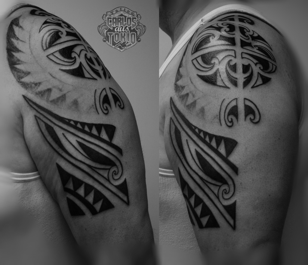 maori inspired tribal tattoo2