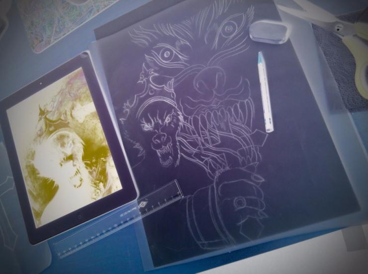 tattoo sketch carlos aus tokio
