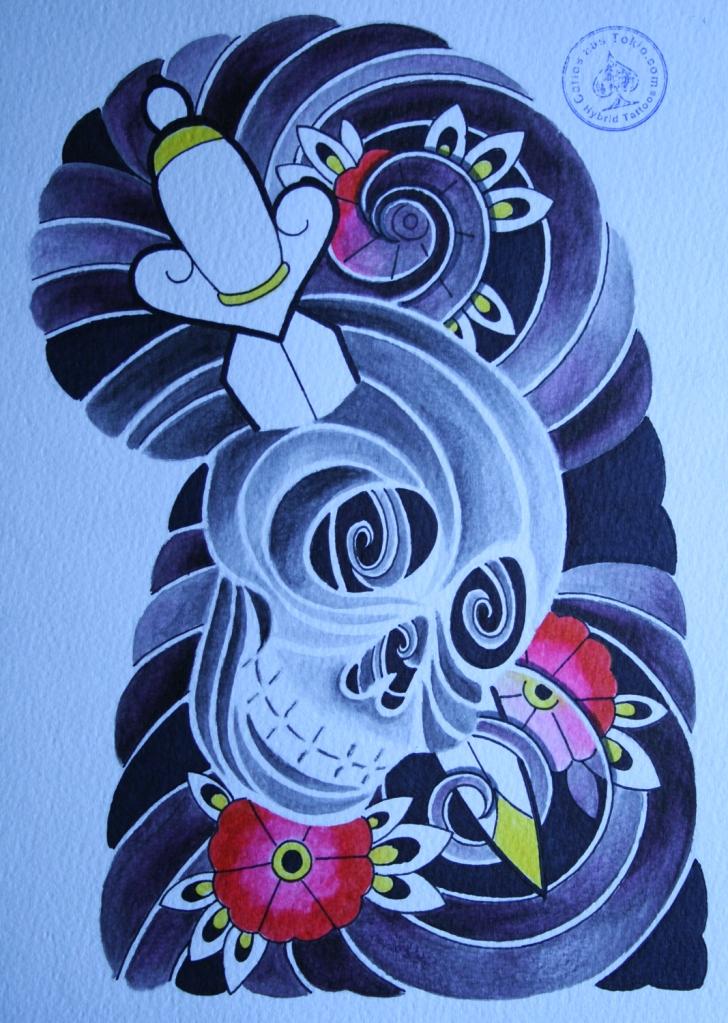 totenkopf tattoo carlos aus tokio