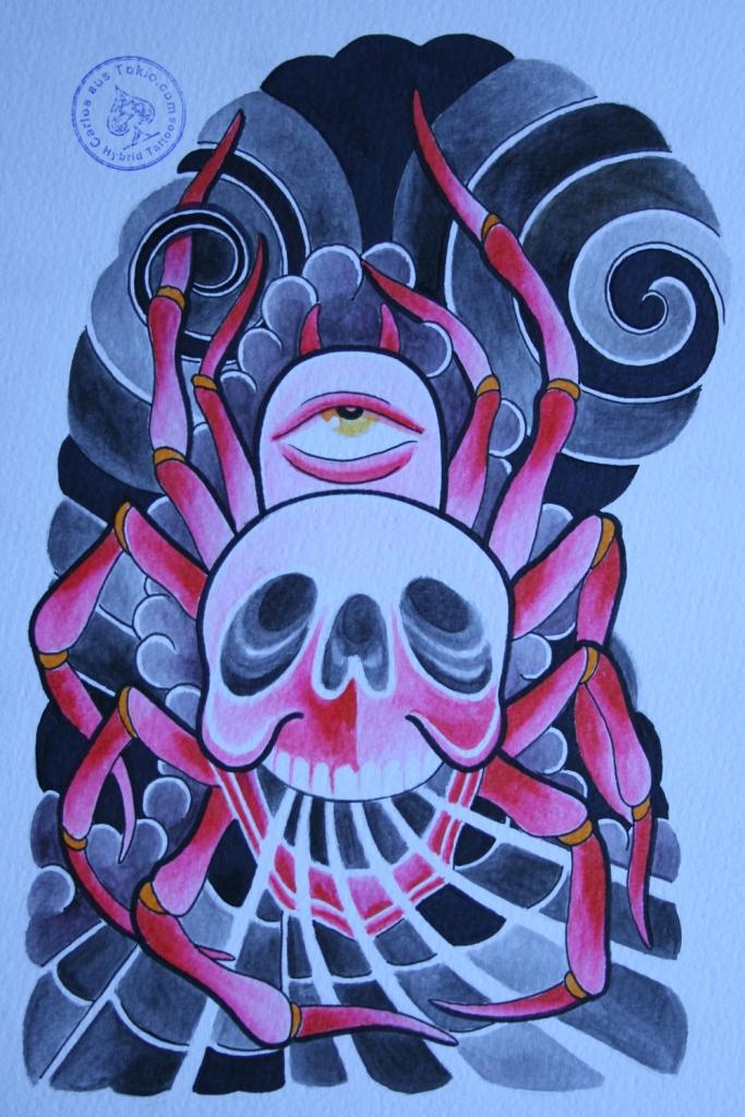 totenkopf tattoo carlos aus tokio10