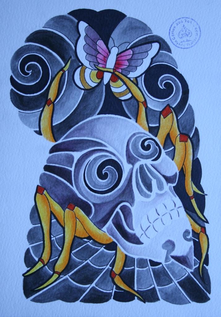 totenkopf tattoo carlos aus tokio11