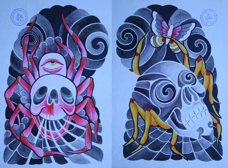 totenkopf tattoo carlos aus tokio12