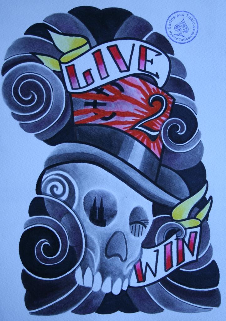 totenkopf tattoo carlos aus tokio14